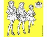 Barbie y sus compañeros de equipo