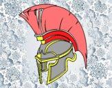 Casco romano de guerrero