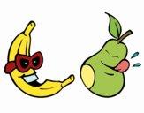 Dibujo Frutas locas pintado por Jaqueline1