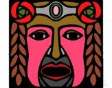 Dibujo Máscara Maya pintado por anamariaro