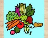 Dibujo verduras pintado por esbetyzz