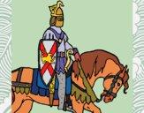 Dibujo Caballero a caballo pintado por Ramon45