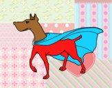 Dibujo Perro superhéroe pintado por luchiylau