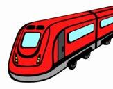 Dibujo Tren de alta velocidad pintado por Namm