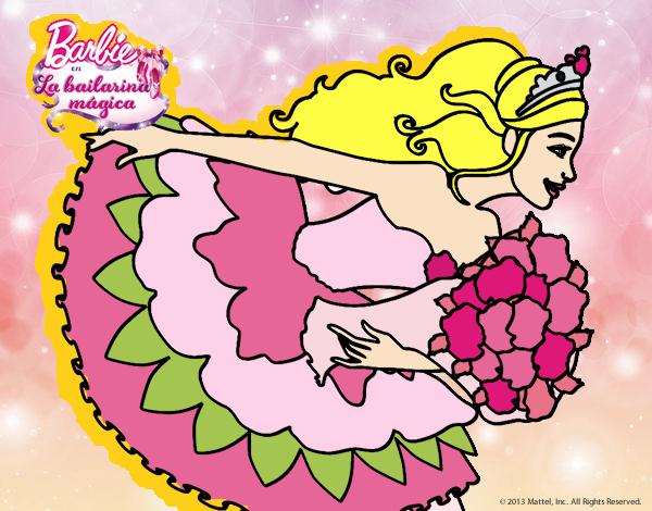 Dibujo Barbie en un saludo de agradecimiento pintado por mirperla