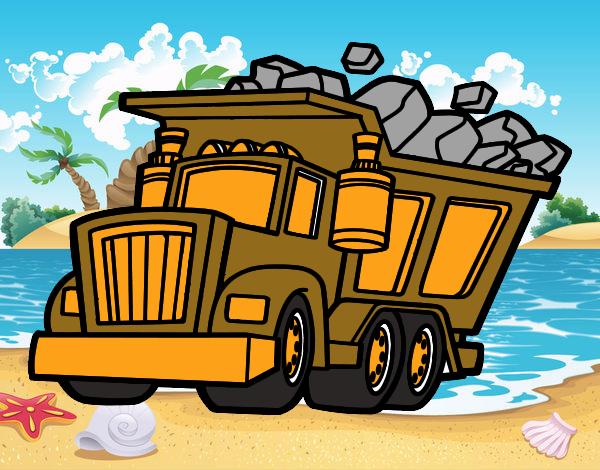 Dibujo Camión cargado pintado por marcostano