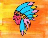 Dibujo Cara del indio jefe pintado por FCOSERRAS
