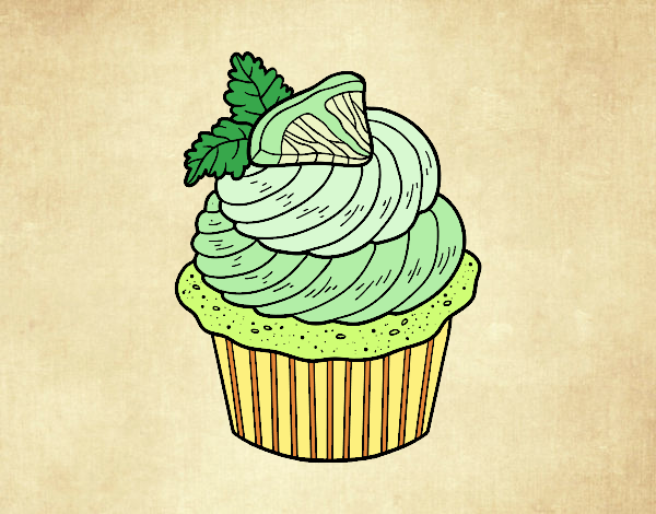 Dibujo Cupcake de limón pintado por mirperla