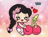 Dibujo Dulces cerezas pintado por CeceDrake