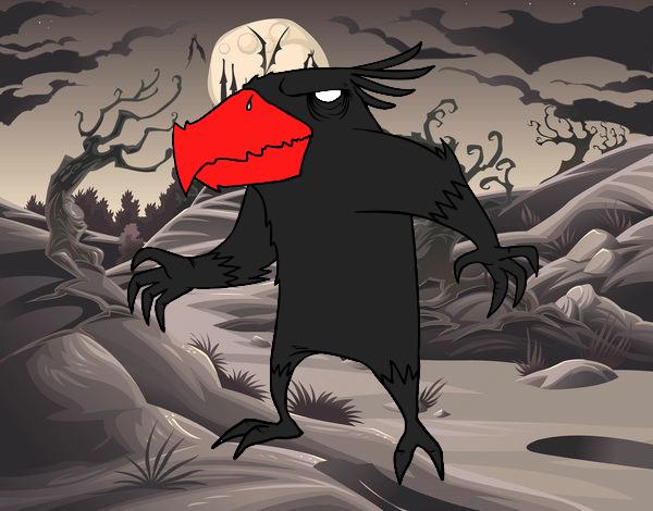 Dibujo Monstruo pajarraco malvado pintado por keonii
