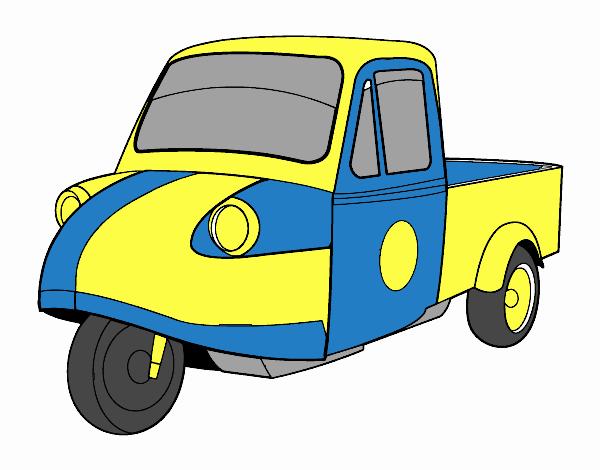 Dibujo Moto furgoneta pintado por marcostano