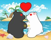 Osos polares enamorados