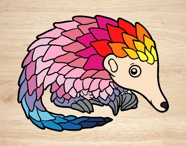 Dibujo Pangolin pintado por marcostano