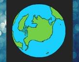 Dibujo Planeta Tierra pintado por DaniCat