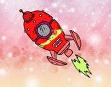 Un cohete espacial