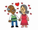 Dibujo Abuelos amorosos pintado por JuliBanana