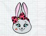 Dibujo Cara de conejita pintado por sheyla13