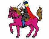 Cartero navideño en caballo