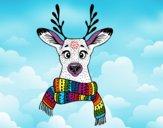 Dibujo Ciervo con bufanda pintado por CamuAlonso
