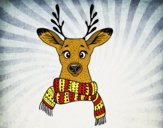 Dibujo Ciervo con bufanda pintado por marcostano