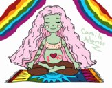 Dibujo Embarazada practicando yoga pintado por CamuAlonso