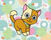 Dibujo Gato doméstico pintado por AndreaMGM