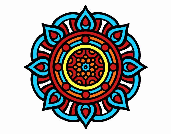 Dibujo Mandala puntos de fuego pintado por marcostano
