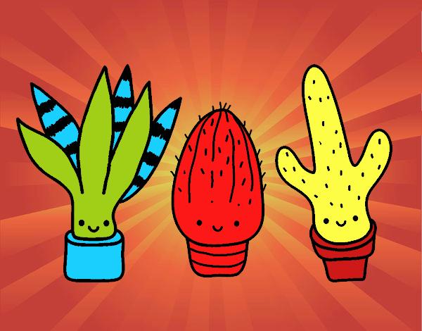 Dibujo Mini cactus pintado por marcostano