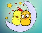 Dibujo Pájaros enamorados pintado por JuliBanana