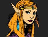 Dibujo Princesa elfo pintado por gress_hh
