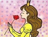Dibujo Princesa y rosa pintado por bianca1300