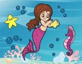Dibujo Sirena preciosa pintado por JuliBanana