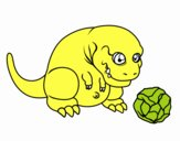Tyrannosaurus rex jugando