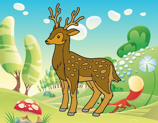 Dibujo Un ciervo joven pintado por marcostano