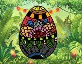 Un huevo de Pascua floral