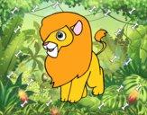 Dibujo Un león pintado por Joddy