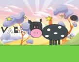 Vaca y estrellas
