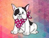 Dibujo Bulldog francés pintado por Flaviusky