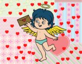 Cupido con carta de amor