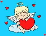 Dibujo Cupido con corazón pintado por Michellinh