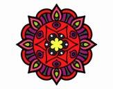 Dibujo Mandala vida vegetal pintado por mardela
