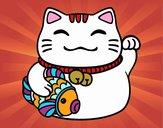 Maneki-neko de la abundancia