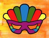 Dibujo Máscara con plumas pintado por ERICAM