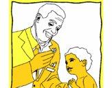 Médico con el estetoscopio