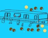 Pasajeros esperando al tren