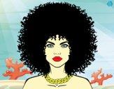 Dibujo Peinado afro pintado por Michellinh