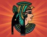 Dibujo Perfil de Cleopatra pintado por JuliBanana