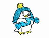 Pingüino con caramelo