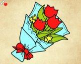 Dibujo Ramo de tulipanes pintado por Michellinh