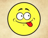 Smiley sacando la lengua